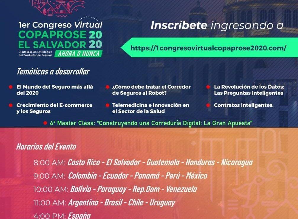 I Congreso Virtual El Salvador COPAPROSE 2020