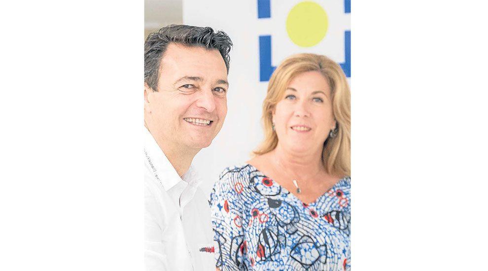 Javier Miguel López y Esther Berganza, presidente y vicepresidenta.
